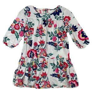 Crazy 8 Girls White Multicolor Floral Dress 10